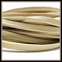Шнур кожаный 10*5 мм, цвет золотой песок