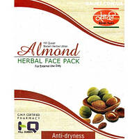 Маска для лица Миндаль,  Almond (anti-dryness) Herbal Face Pack Khadi,100 g