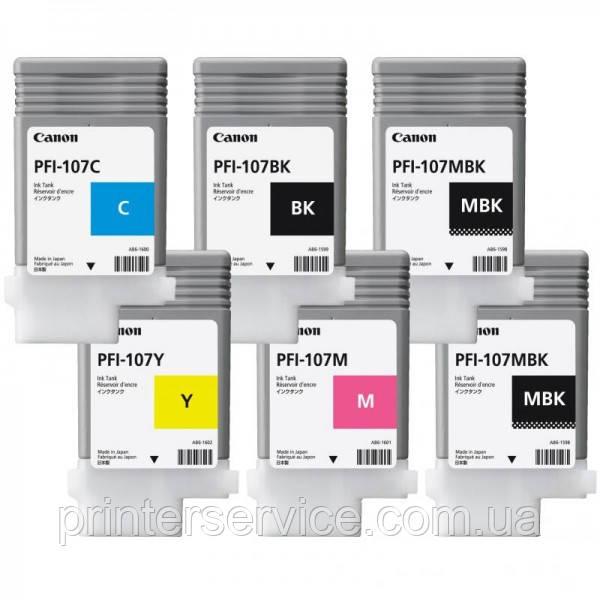 Картриджи PFI-107 90 ml в комплекте для iPF670/ 680/ 685/ 770/ 780/ 785