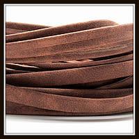 Шнур замшевый 10*3 мм, цвет кофе с молоком (20 см)