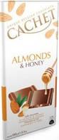 Молочный шоколад CACHET «Almonds and Honey» 32% какао с миндалем и медом 100 г