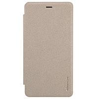 Чехол книжка Nillkin Sparkle Series для Xiaomi Redmi 3 Pro 3s золотой