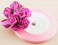 Лента атласная розовая 1 (8 мм) - 5 метров (товар при заказе от 200 грн)