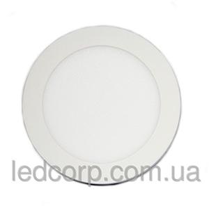 круглый врезной светильник холодный белый