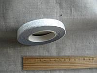Скотч-тейп лента, бумажная декоративная серебро 12мм х 30м
