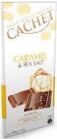 Черный шоколад CACHET «Caramel and Sea Salt» 32% какао, карамель и морская соль 100 г