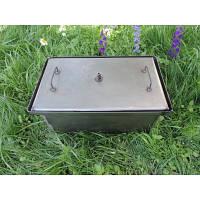 Коптильня с гидрозатвором: 2 уровня, 400х310х280 мм, металл 2 мм