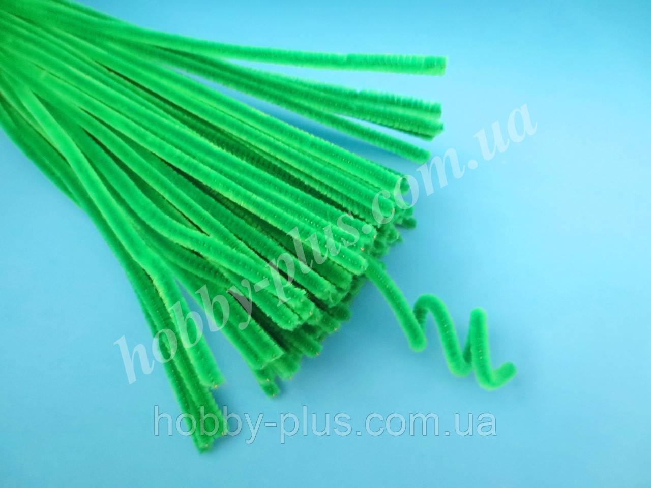 Синельная проволока, 30 см, цвет - зеленый, 10 шт