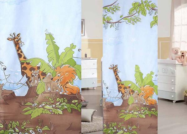 """Ткань Вуаль-печать """"Африка"""", фото 2"""