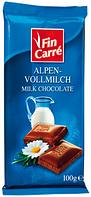 Молочный шоколад  Fin Carre  «Alpine milk chocolate» с альпийского молока 100 г