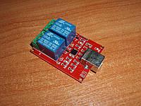 USB реле 2 порт RELAY-2 HID удаленное управление нагрузкой через компьютер / интернет 2 канала USB HID relay s