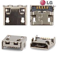 Коннектор зарядки для LG E400 Optimus L3, оригинал