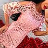 Платье-туника крупное кружево. Два цвета , фото 3