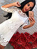 Платье-туника крупное кружево. Два цвета , фото 4