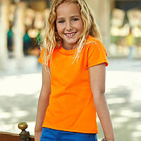 Оранжевая футболка для девочек (Премиум)