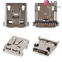 Коннектор зарядки для LG G2 D801, оригинал
