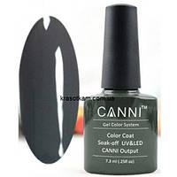 Гель-лак Canni 151 темный оливково-серый