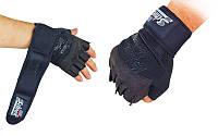 Перчатки для пауэрлифтинга SCHIEK размер Л, фото 1
