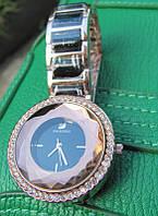 Часы женские Swarovski brand, чёрный циферблат, к-1031