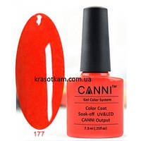 Гель-лак Canni 177 ярко оранжевый, неон