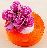 Лента атласная оранжевая 1 (12 мм) - 5 метров (товар при заказе от 200 грн)