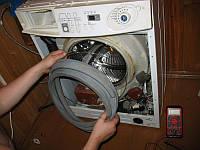 Замена манжеты люка, уплотнителя дверцы, требующая полной разборки стиральной машины
