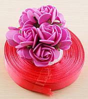 Лента атласная розовая 1 (12 мм) - 5 метров (товар при заказе от 200 грн)