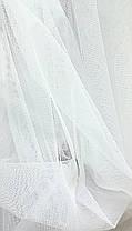 Ткань текстильная Сетка- однотонная мелкое сечение Белая, фото 2