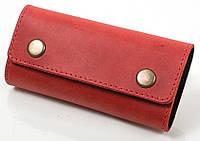 Красная удобная женская ключница из натуральной кожи DNK LEATHER DNK-Keys-Scol.H