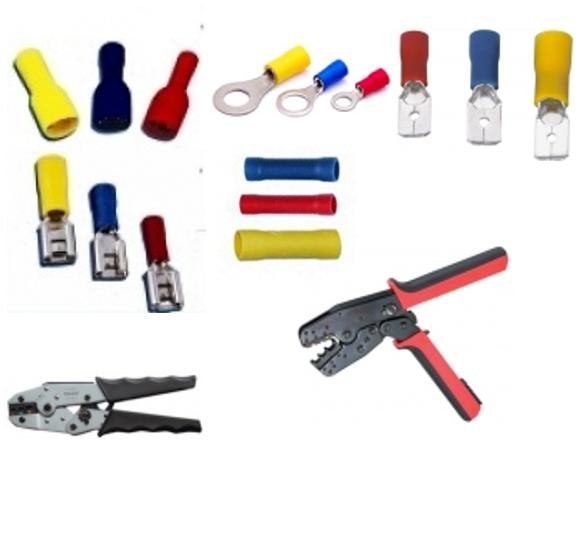 Инструмент для опрессовки коннекторов и гильз с изоляцией