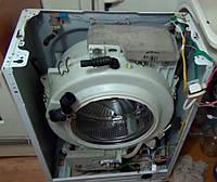 Извлечение посторонних предметов из бака стиральной машины, требующее полной разборки