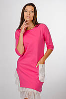 Женское платье-туника розового цвета  Lato