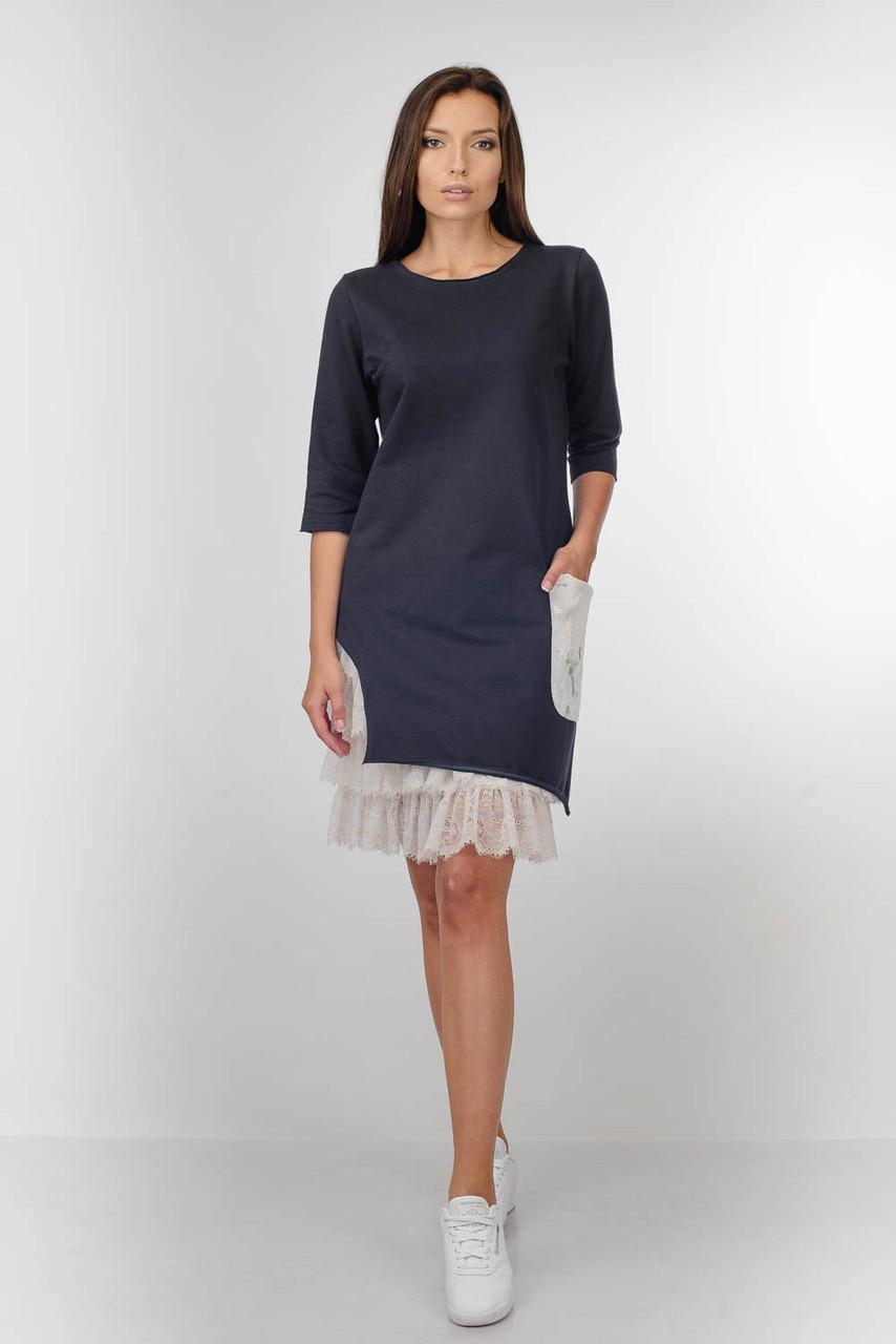 Женское синее платье-туника   Lato