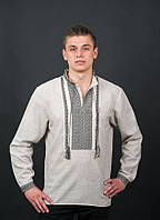 Вышитая мужская рубашка от волынских мастеров с длинным рукавом