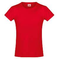 Красная футболка для девочек (Премиум)
