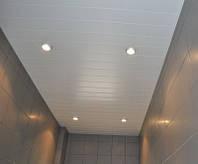 Подвесные реечные потолки ванной