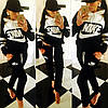 Спортивный костюм женский Nike с капюшоном, трикотаж