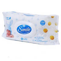 Влажные салфетки Smile Baby с экстрактом ромашки и алоэ, 100 шт.