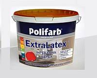 Краска интерьерная POLIFARB EXTRALATEX латексная белая, 4,2 кг