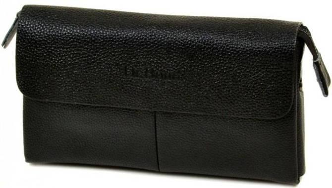 Классическая мужская барсетка из искусственной кожи dr.Bond A612-1 black, черный