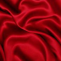 Атлас однотонный плотный - цвет красный