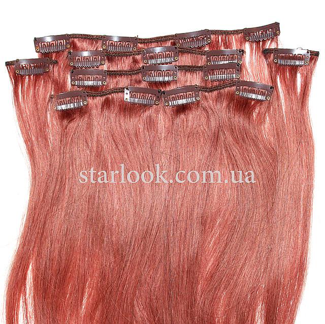 Набор натуральных волос на клипсах 52 см оттенок №33 120 грамм