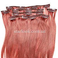 Набор натуральных волос на клипсах 52 см. Оттенок №33. Масса: 100 грамм., фото 1