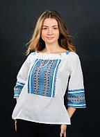 Нежная и яркая женская вышитая рубашка от волынских мастеров