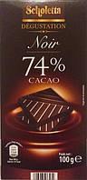 ЕКСТРА Черный шоколад Scholetta NOIR «74% cacao» 74% какао 100 г