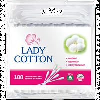 Ватные палочки Lady cotton 100шт. п/э