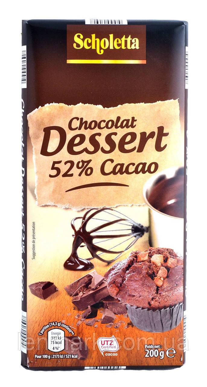 Черный шоколад Scholetta NOIR «52% cacao» 52% какао 200 г