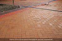 Тротуарная плитка Коричневая (200\100 без фаски)