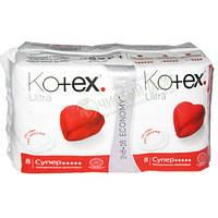 """Прокладки """"Kotex"""" 5к Dry Soft16шт (серце)/-652/16"""