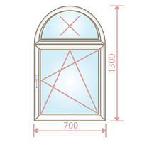 Арочное окно/700х1300/4-16-4 - Magazin Okon